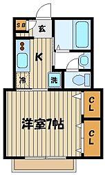ヴィラ坂本[2階]の間取り