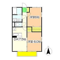 ゴールドハウス[2階]の間取り