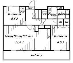 幕張ベイタウンマリンフォート[5階]の間取り