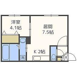 ASTI STAGE anela[4階]の間取り