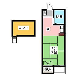 NEW PORT勝川 C棟[2階]の間取り