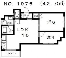 シティライフ帝塚山[3階]の間取り