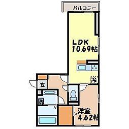 長崎県諫早市真崎町の賃貸アパートの間取り