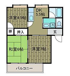 コンフォートハイム[2階]の間取り