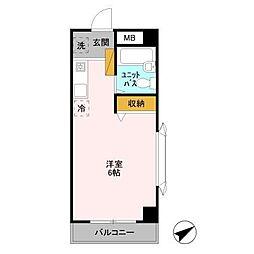 千葉県浦安市富士見4丁目の賃貸マンションの間取り