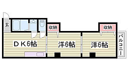熊野マンション[3階]の間取り
