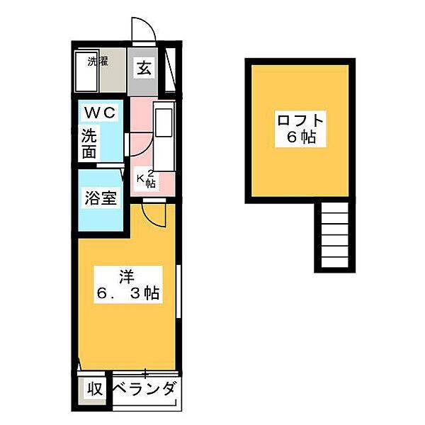 エスポワール桜本町[1階]の間取り