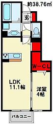 HN's D−room in 楡[1階]の間取り