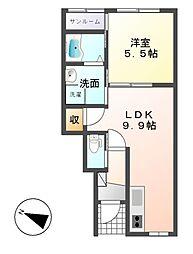 ラ・フレーズ[1階]の間取り