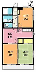新井マンション[206号室]の間取り