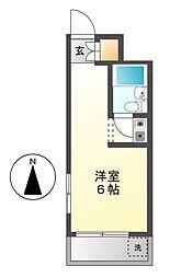 愛知県名古屋市千種区池園町2の賃貸マンションの間取り