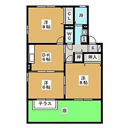 COMODO楠 A棟[1階]の間取り