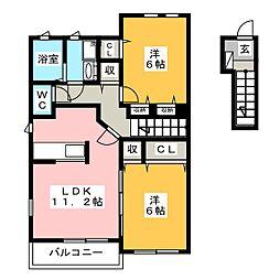メゾンナリッシュA[2階]の間取り