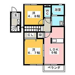 シェボンIII[2階]の間取り