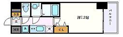 名古屋市営東山線 栄駅 徒歩7分の賃貸マンション 6階1Kの間取り