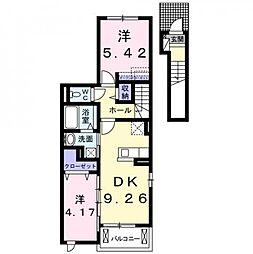 愛知県高浜市神明町3丁目の賃貸アパートの間取り
