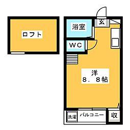 エスペランス平尾[2階]の間取り