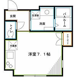 JR中央本線 西荻窪駅 徒歩8分の賃貸マンション 2階ワンルームの間取り