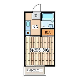 パークヒルズA103号室[A-103号室]の間取り