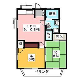菊井コーポ[1階]の間取り