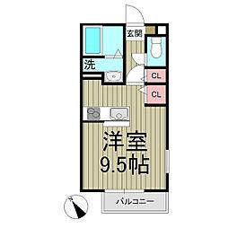 フィカーサ鎌倉[1階]の間取り