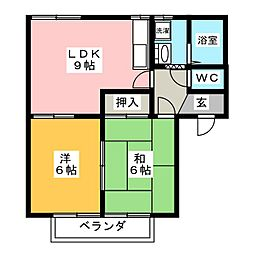 シルバンブリーズ A棟[1階]の間取り