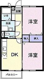 エスポワールパレスI[2階]の間取り