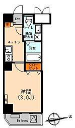 東京都台東区鳥越1丁目の賃貸マンションの間取り