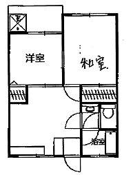 ハイツハヅミ[2階]の間取り