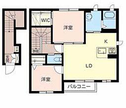 シャーメゾンクレール[2階]の間取り