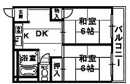 ツインナーク(新湊小学校区)[2階]の間取り