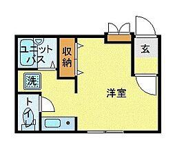 JR中央本線 三鷹駅 徒歩7分の賃貸マンション 3階1Kの間取り