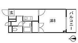 愛知県名古屋市昭和区雪見町2丁目の賃貸マンションの間取り