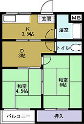 大久保マンション[2階]の間取り