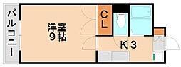 シティコート3西鉄下大利駅前[4階]の間取り