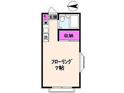 カサベルデ小坂[1階]の間取り