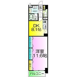 ディアコート新発田[2階]の間取り