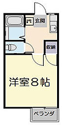 M・HOUSE[H号室]の間取り