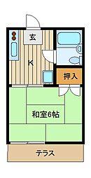 ファミーユ上石神井[1階]の間取り