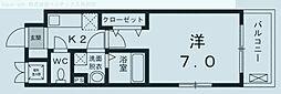 埼玉県川口市並木の賃貸マンションの間取り