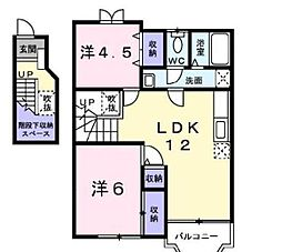 宮崎県宮崎市阿波岐原町の賃貸アパートの間取り