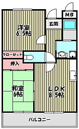 エスポワール文珠[5階]の間取り