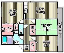 オーク・ソフィア1・2[1-201号室]の間取り