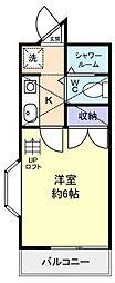 シャンポール白鷺[1階]の間取り