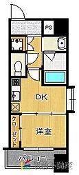 JR鹿児島本線 博多駅 徒歩7分の賃貸マンション 11階1DKの間取り