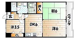 クレベール千防[3階]の間取り