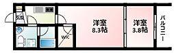 Osaka Metro御堂筋線 江坂駅 徒歩4分の賃貸マンション 10階2Kの間取り