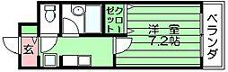 スイートリバティ 吉田下島 吉田17分[2階]の間取り