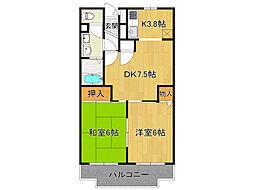 エスペランサ藤井[2階]の間取り