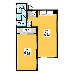 サザン栄[3階]の間取り